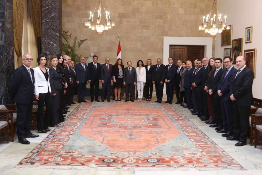 Legacy Line present to the President of Lebanon